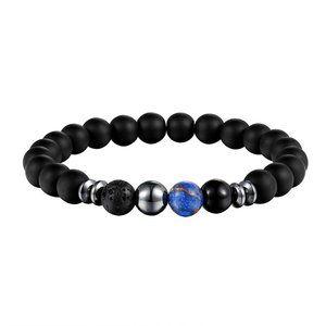 NWT UNISEX Tiger Eye Blue Beads Bracelet